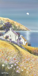 Late Summer Bay by John Mckinstry - Original Painting on Box Canvas sized 12x24 inches. Available from Whitewall Galleries